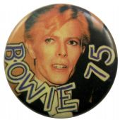 David Bowie - 'Bowie 75' Button Badge